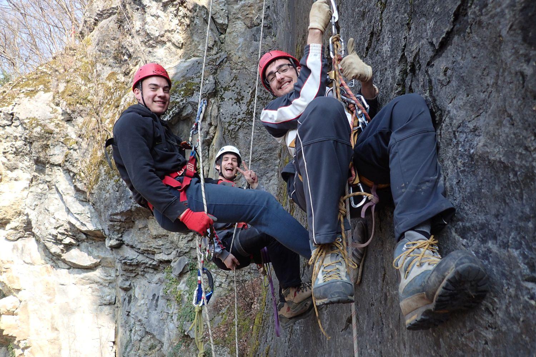 Gorsko Zrcalo prva vježba na užetu