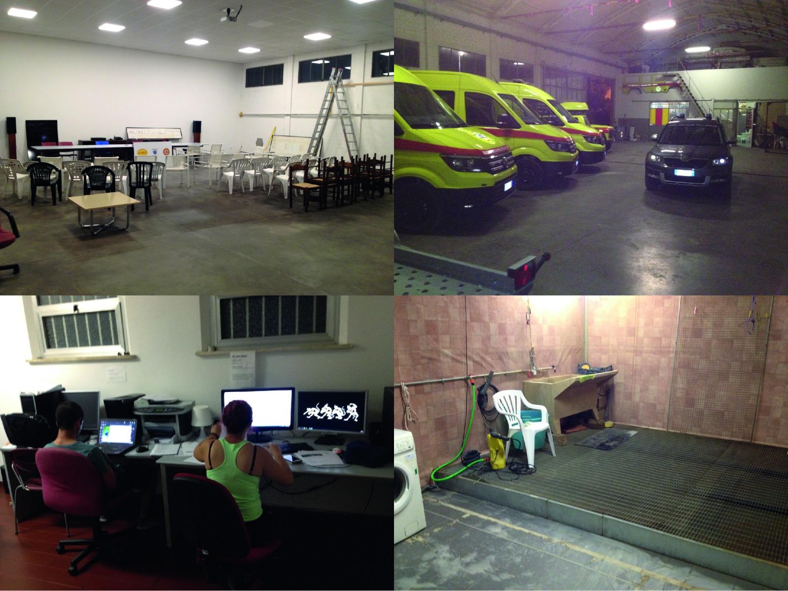 Slika 2. Prostorije kluba: Oružarstvo, zid za vježbanje tehnika, prostorija za prezentacije, soba s kompjuterima, soba za pranje opreme: sve se to nalazi u prostorijama kluba!