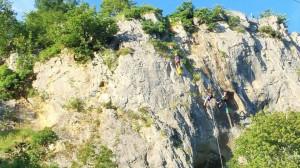 Pogled na stijenu održavanja početničkog tečaja