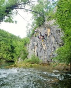 Pogled na stijenu održavanja naprednog tečaja
